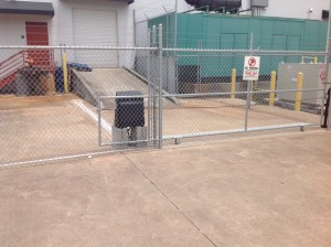 Hivelocity's Tampa 1 Colocation Data Center External Security Gate.