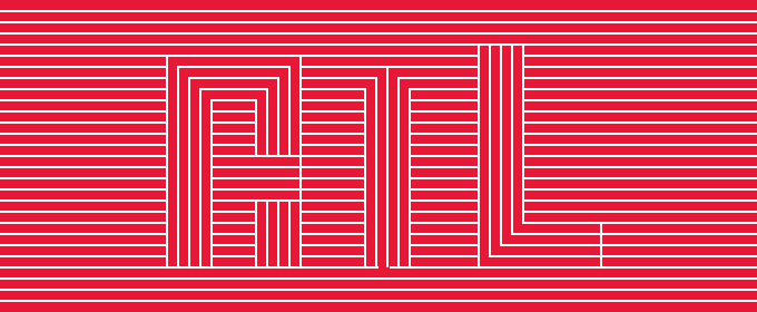 """Striped design with the letters """"ATL"""" in bold"""