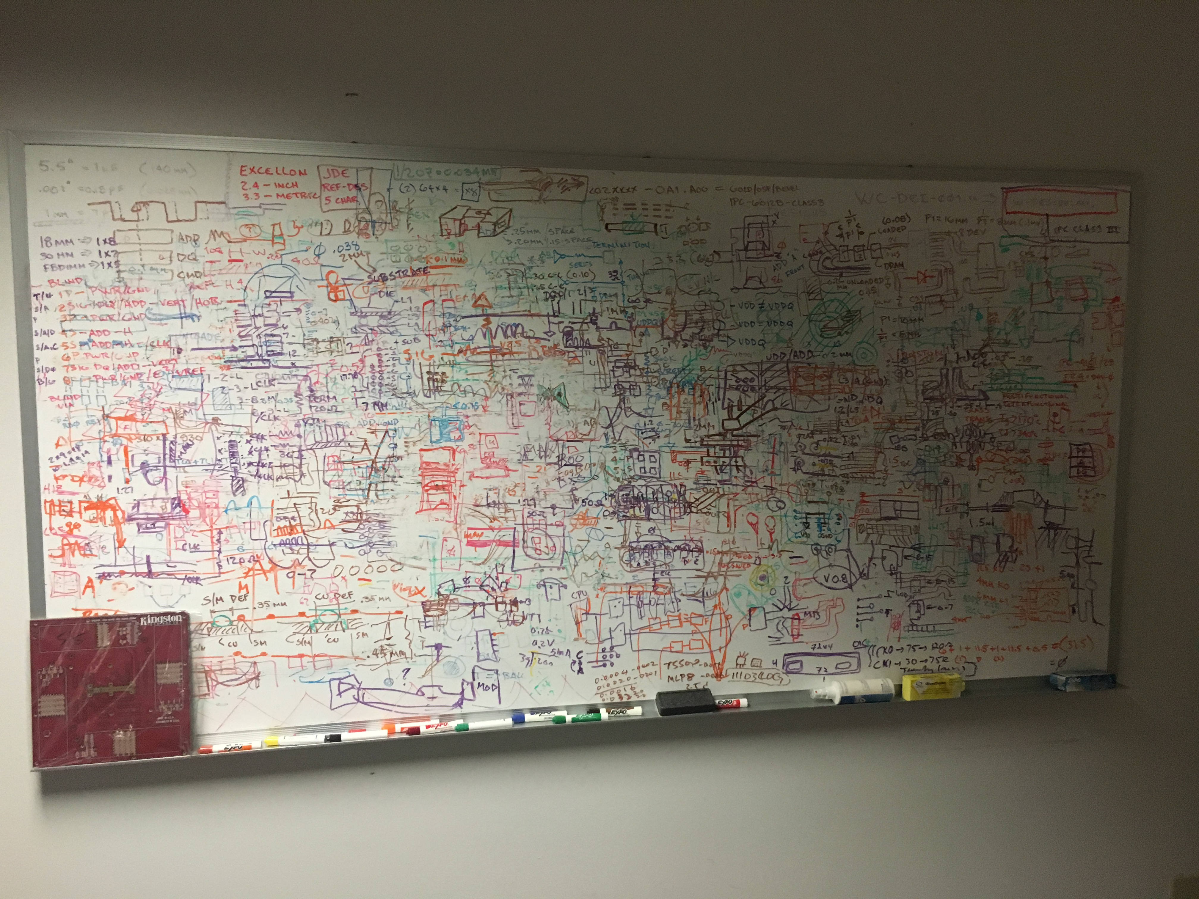White Board in Engineering Room at Kingston HQ