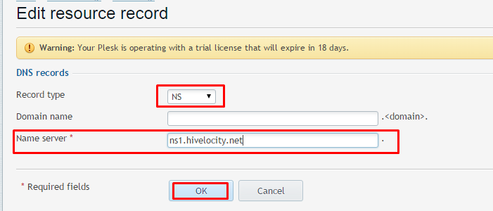 how to add ns record in cpanel
