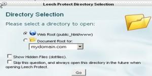 Leech Protect Directory Selection window