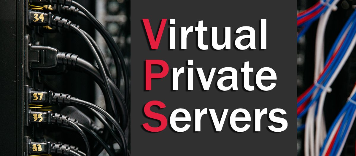 "What is VPS hosting? A series of cables with the words ""Virtual Private Servers"""