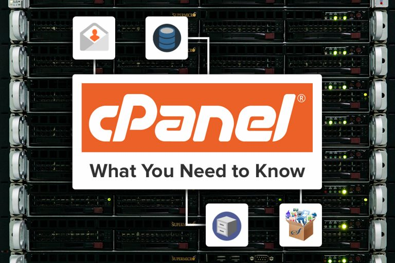 cPanel: What you Need to Know title image showing cPanel logo and various icons