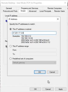 Sample IP address