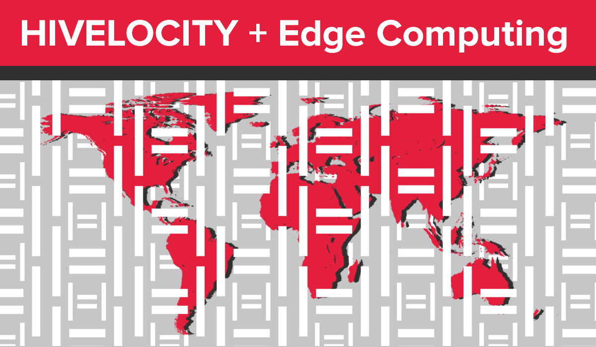 """Title image showing a map of the world and the text """"Hivelocity + Edge Computing"""""""