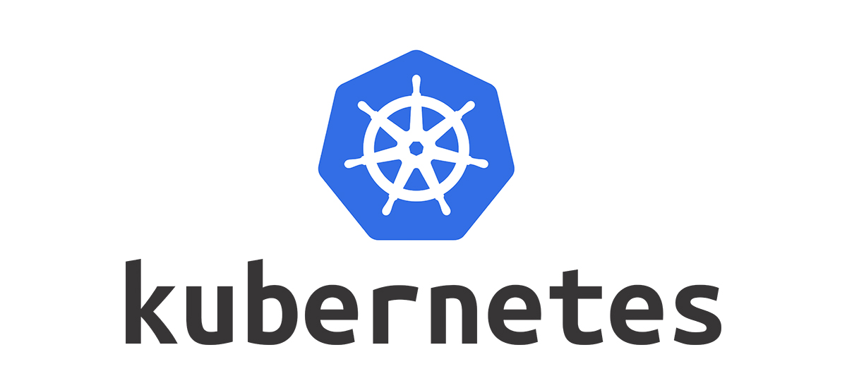 Kubernetes' logo showing a symbol of a 7-spoked ship's steering wheel