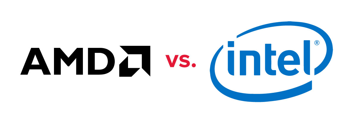 Logos showing AMD vs. Intel