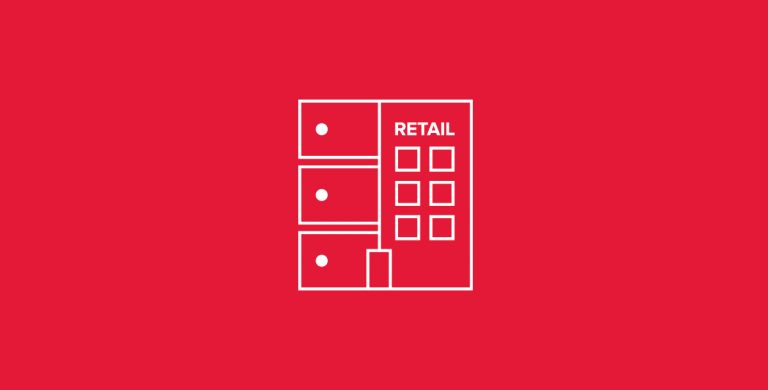 Header image icon merging a dedicated server stack with a brick-and-mortar retail store
